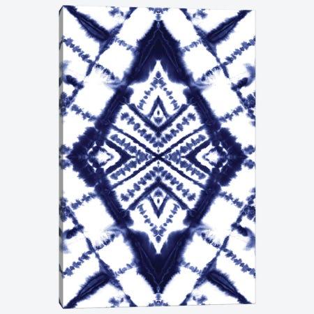 Dye Diamond Indigo Canvas Print #JMO197} by Jacqueline Maldonado Canvas Print