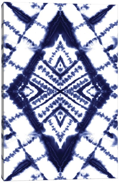 Dye Diamond Indigo Canvas Art Print
