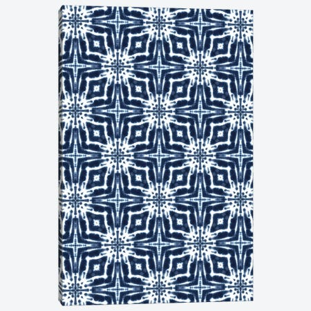 Watercolor Shibori Indigo Canvas Print #JMO200} by Jacqueline Maldonado Canvas Wall Art