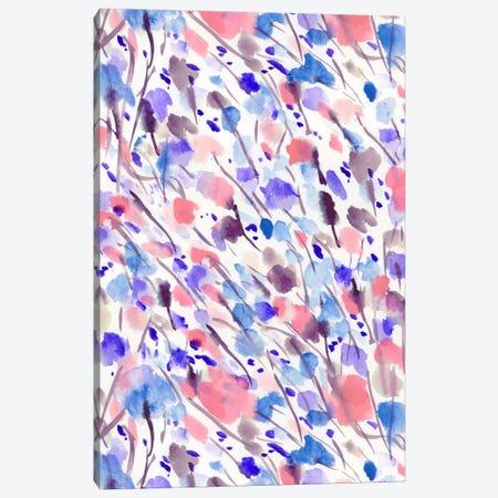 Wild Nature Apricot Blue Canvas Print #JMO34} by Jacqueline Maldonado Canvas Art