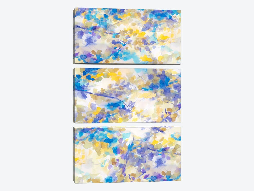 Canopy Blue by Jacqueline Maldonado 3-piece Canvas Art Print