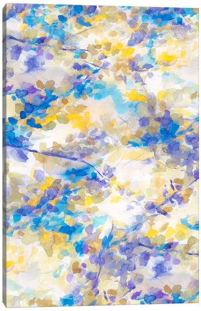 Canopy Blue Canvas Art Print