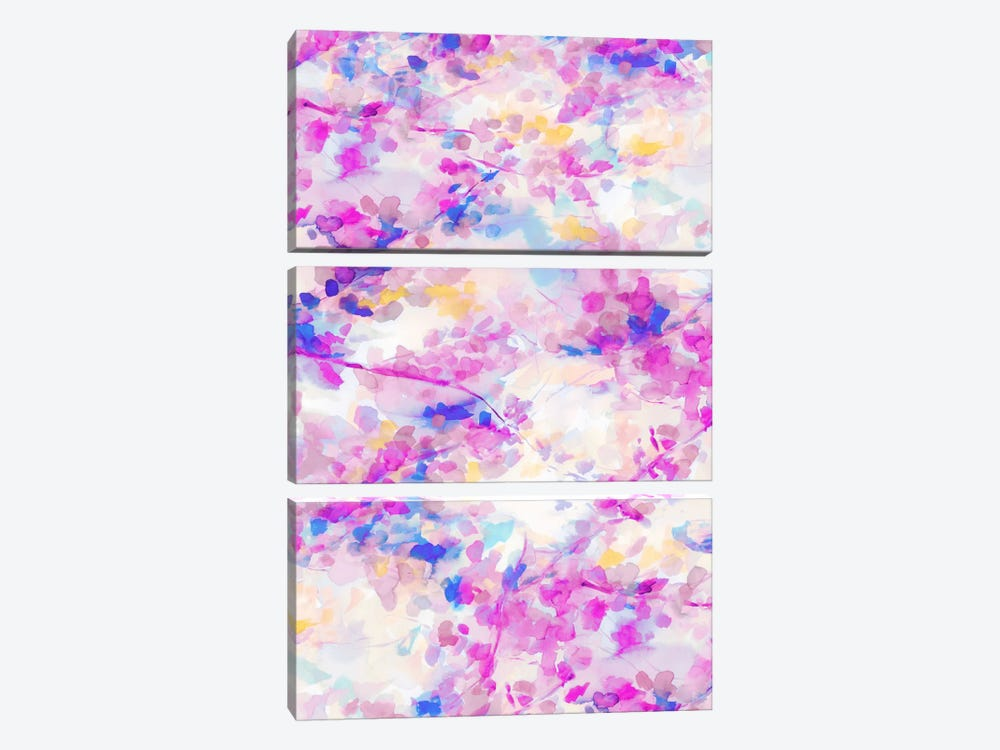 Canopy Magenta 3-piece Canvas Print