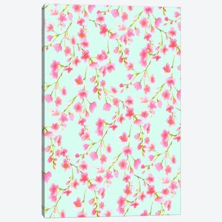 Cherry Blossom Mint Canvas Print #JMO49} by Jacqueline Maldonado Canvas Art