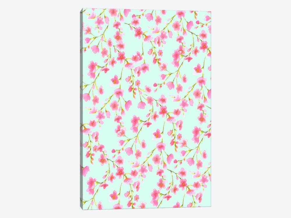 Cherry Blossom Mint by Jacqueline Maldonado 1-piece Canvas Print