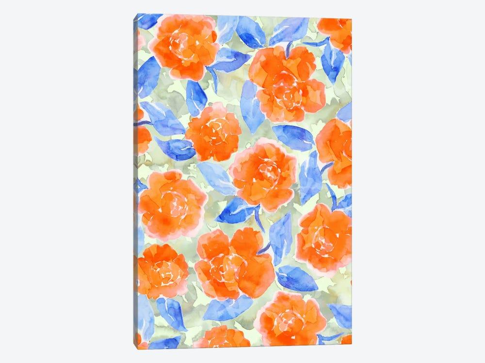 Cottage Peonies Orange by Jacqueline Maldonado 1-piece Canvas Art Print