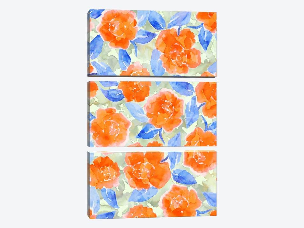 Cottage Peonies Orange by Jacqueline Maldonado 3-piece Art Print