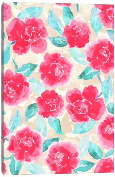 Cottage Peonies Pink Canvas Art Print