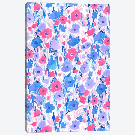Flower Field Lilac Blue Canvas Print #JMO65} by Jacqueline Maldonado Canvas Print
