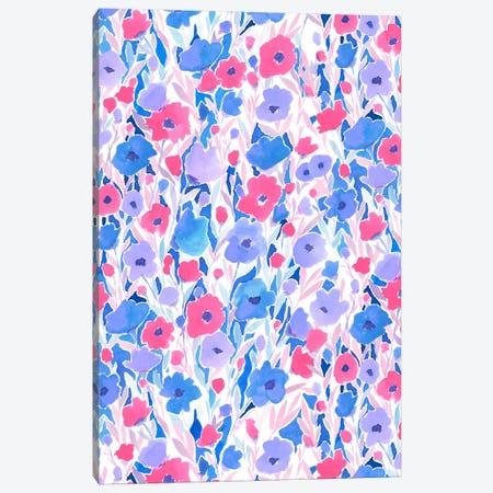 Flower Field Lilac Blue Canvas Print #JMO65} by Jacqueline Maldonado Canvas Print