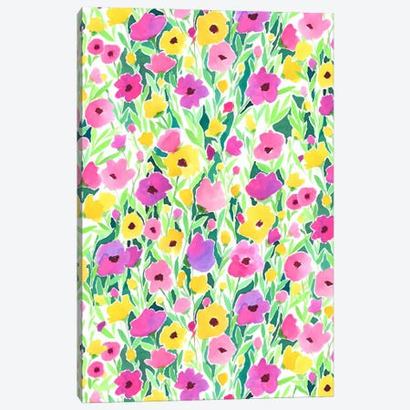 Flower Field Print Canvas Print #JMO66} by Jacqueline Maldonado Art Print