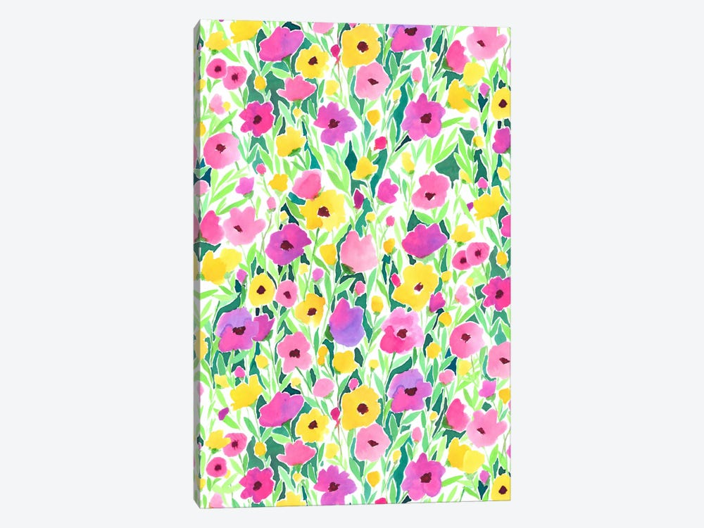 Flower Field Print by Jacqueline Maldonado 1-piece Canvas Artwork