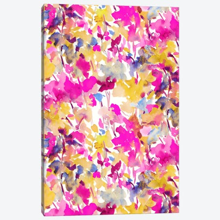 Local Color Pink Yellow Canvas Print #JMO74} by Jacqueline Maldonado Canvas Artwork