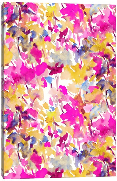Local Color Pink Yellow Canvas Art Print