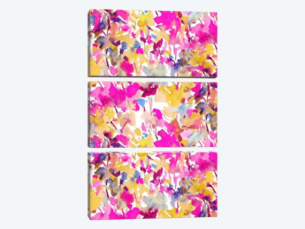 Local Color Pink Yellow by Jacqueline Maldonado 3-piece Art Print