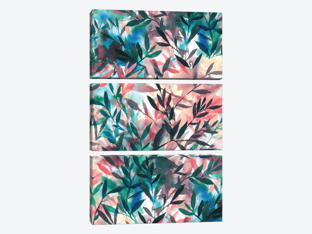 Changes Coral by Jacqueline Maldonado 3-piece Canvas Print