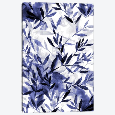 Changes Indigo Canvas Print #JMO84} by Jacqueline Maldonado Art Print
