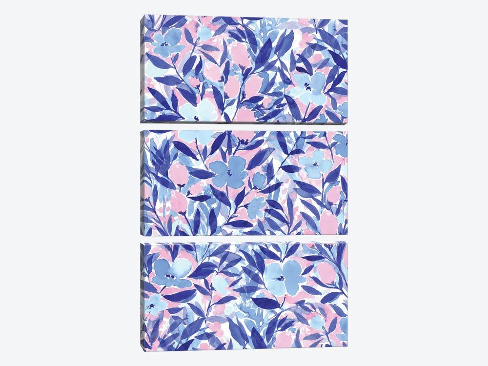 Non-Chalant Blue by Jacqueline Maldonado 3-piece Canvas Art