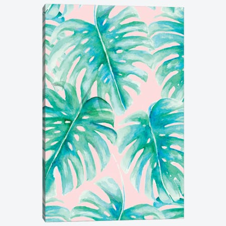 Paradise Palms Blush Canvas Print #JMO97} by Jacqueline Maldonado Canvas Wall Art
