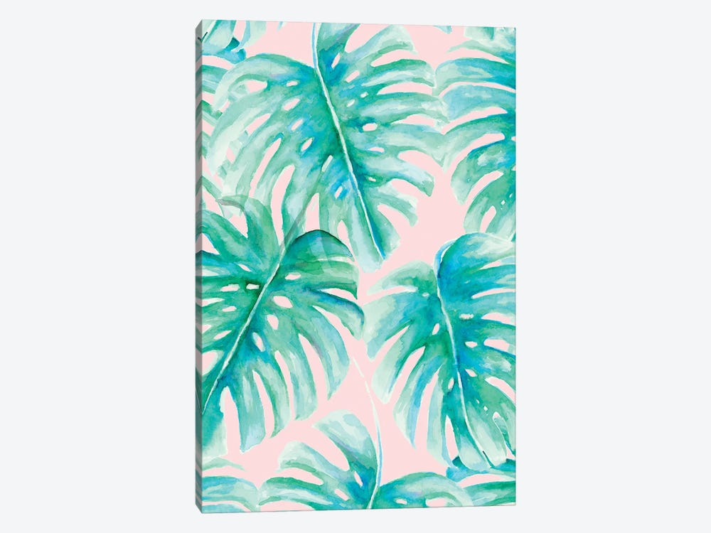 Paradise Palms Blush by Jacqueline Maldonado 1-piece Canvas Wall Art