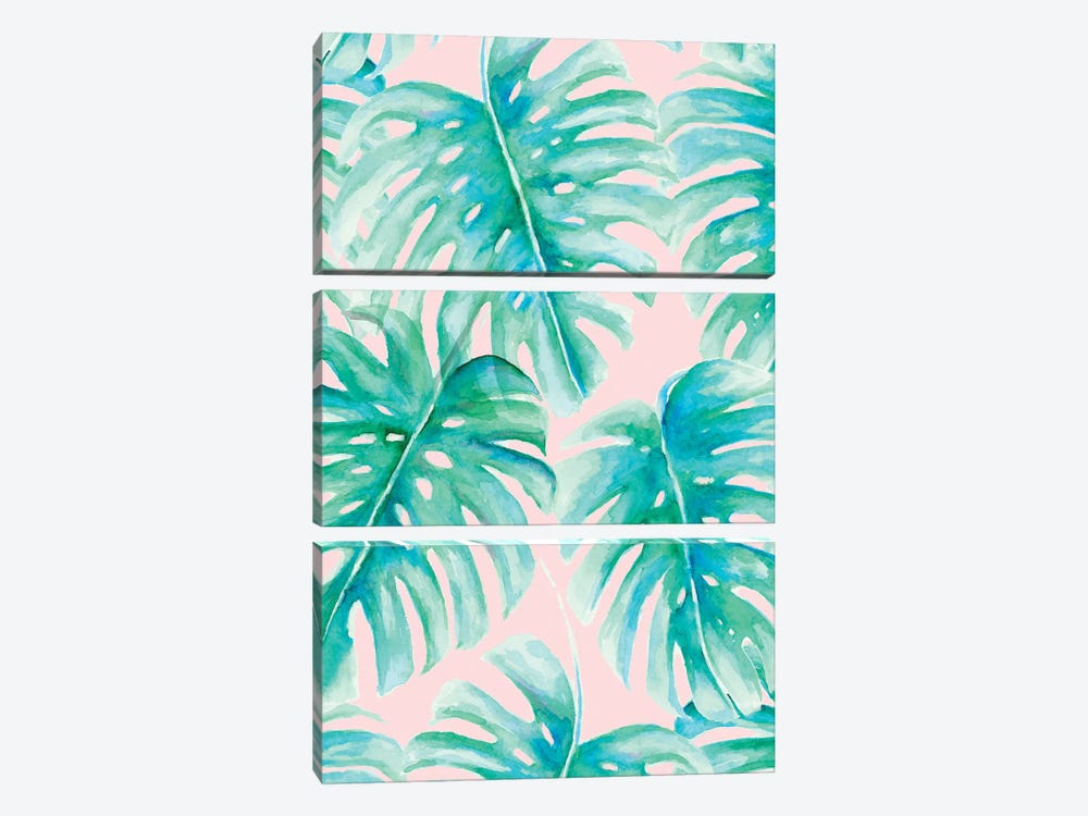 Paradise Palms Blush by Jacqueline Maldonado 3-piece Canvas Art