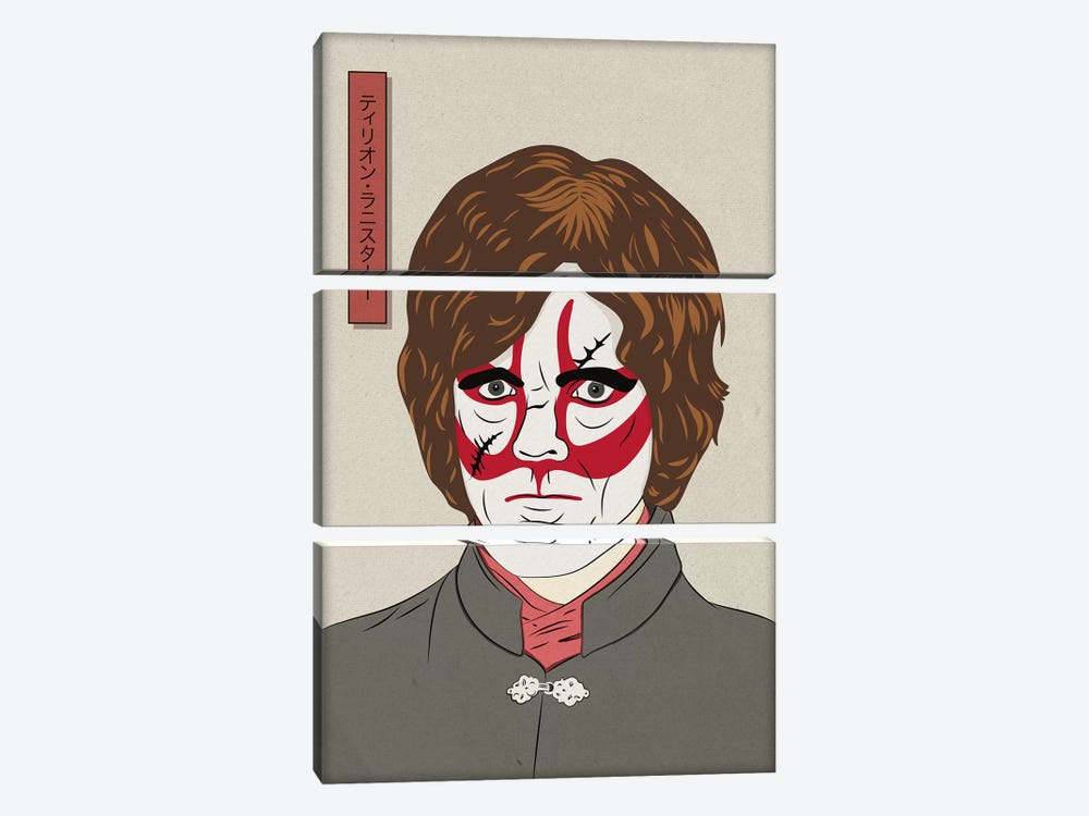 Kabuki Cynical Dwarf by 5by5collective 3-piece Canvas Print
