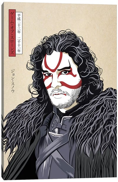 Kabuki Snow Warrior Canvas Art Print