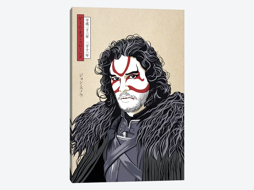 Kabuki Snow Warrior by 5by5collective 1-piece Canvas Art