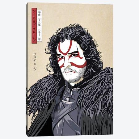 Kabuki Snow Warrior Canvas Print #JMP3} by 5by5collective Canvas Art Print