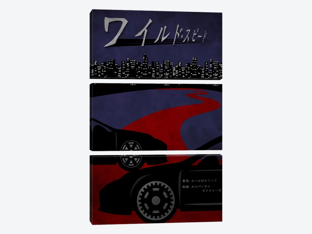 Street Racing by 5by5collective 3-piece Canvas Art Print