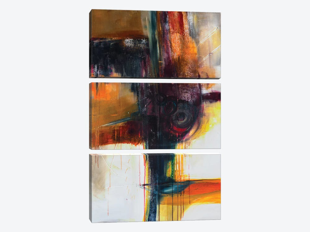 Jazzy Abstract II by Jane M. Robinson 3-piece Canvas Artwork