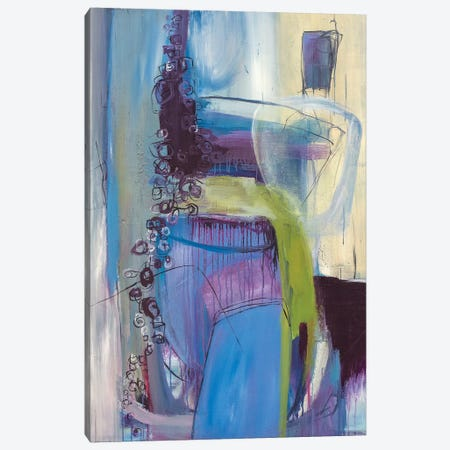 Weary Blues Canvas Print #JMR18} by Jane M. Robinson Canvas Wall Art