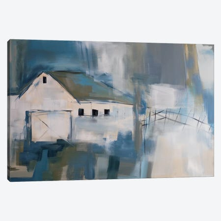 White Barn Canvas Print #JMR23} by Jane M. Robinson Canvas Art Print