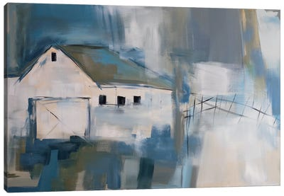 White Barn Canvas Print #JMR23