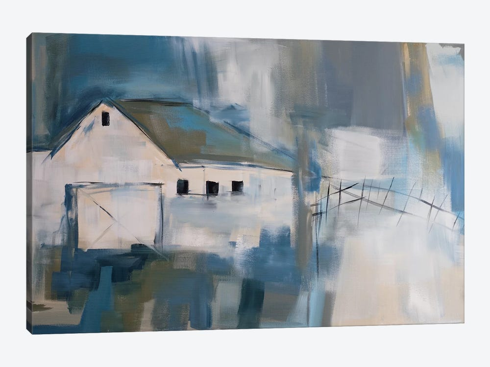 White Barn by Jane M. Robinson 1-piece Art Print