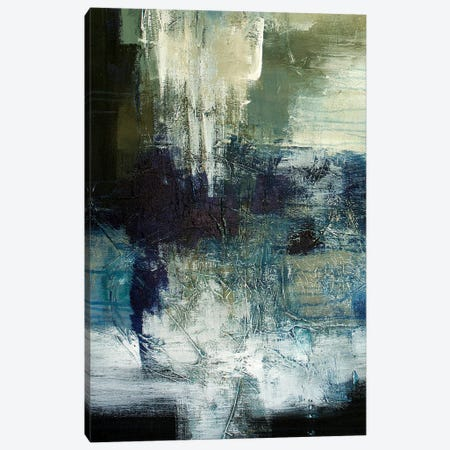 Blue Train 3-Piece Canvas #JMR35} by Jane M. Robinson Art Print