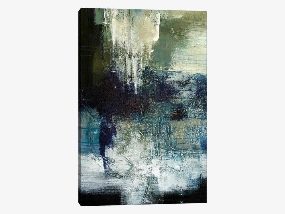 Blue Train by Jane M. Robinson 1-piece Canvas Artwork
