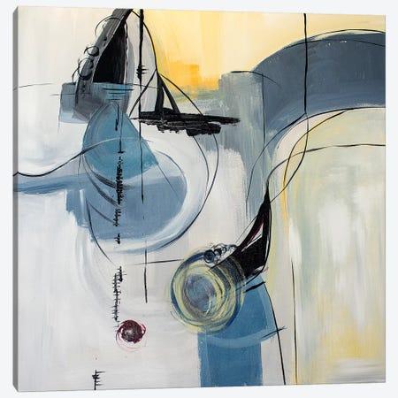 Blue Moon 3-Piece Canvas #JMR58} by Jane M. Robinson Canvas Art