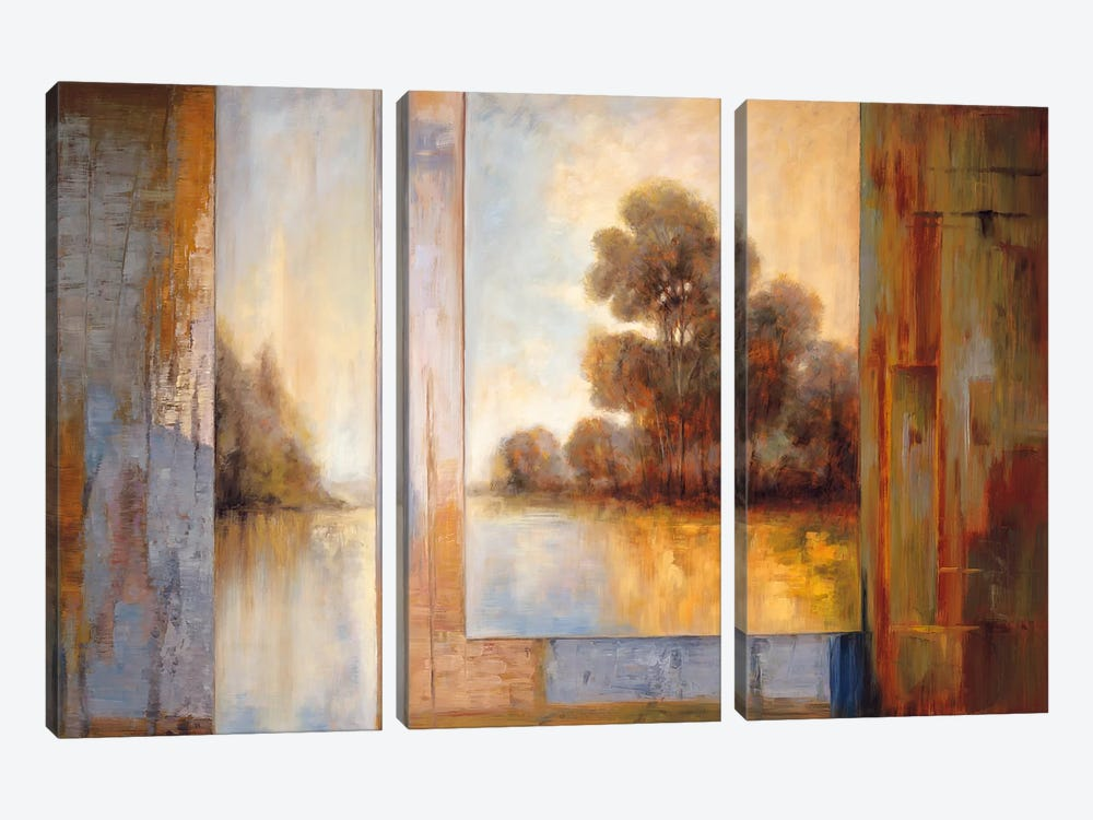 Secluded Pond I by James Bryant 3-piece Canvas Print