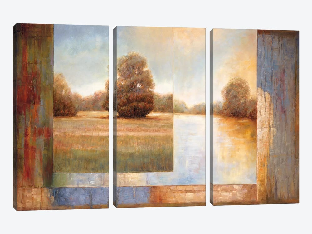 Secluded Pond II by James Bryant 3-piece Canvas Artwork