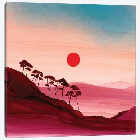 Carmine Evening Canvas Print #JMW44} by Jan Matthews Art Print