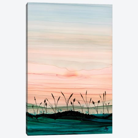 Disappearing Sun Canvas Print #JMW49} by Jan Matthews Canvas Wall Art