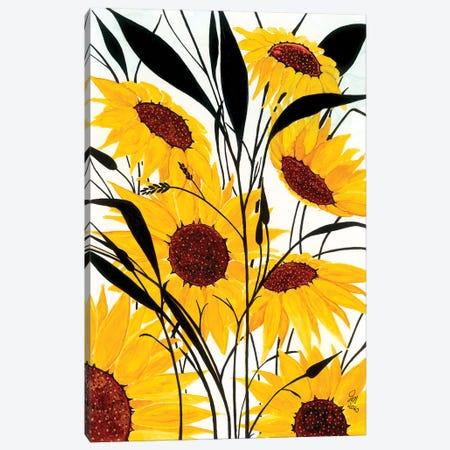 Sunflowers Canvas Print #JMW53} by Jan Matthews Art Print