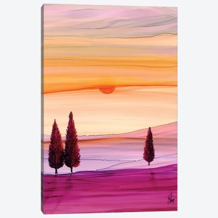 Sunset Fir Canvas Print #JMW54} by Jan Matthews Canvas Art