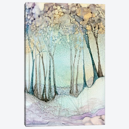 The Blizzard Canvas Print #JMW55} by Jan Matthews Canvas Art