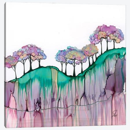 Rock Face Trees Canvas Print #JMW61} by Jan Matthews Canvas Wall Art