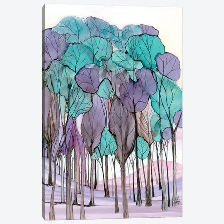 Semi Abstract Trees Canvas Print #JMW62} by Jan Matthews Canvas Art