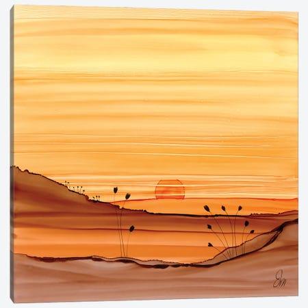 Warming Sunset Canvas Print #JMW64} by Jan Matthews Canvas Print