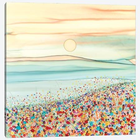 Wild Flower Meadow Canvas Print #JMW65} by Jan Matthews Art Print