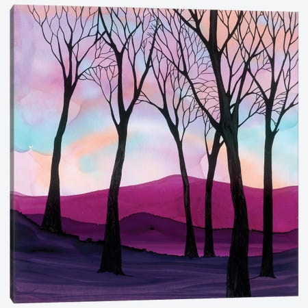 Wild Heather Canvas Print #JMW66} by Jan Matthews Canvas Print